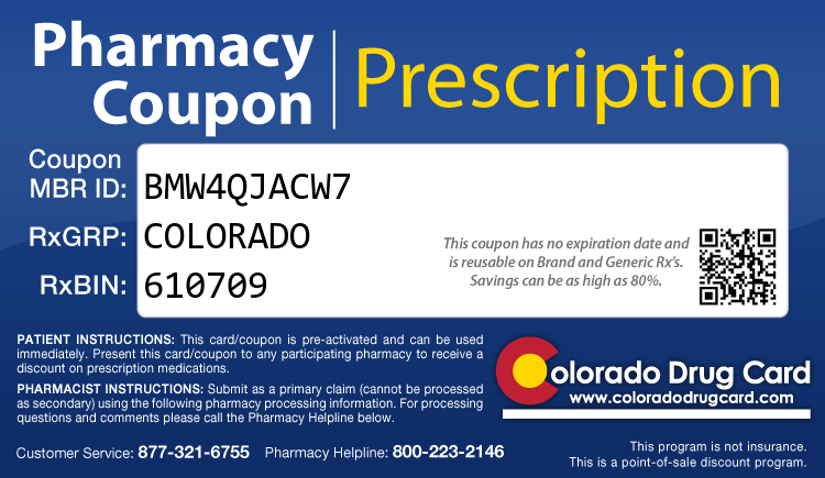 Colorado Drug Card - Free Prescription Drug Coupon Card