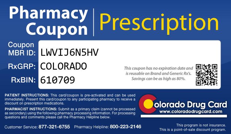 Colorado Drug Card - Free Prescription Drug Coupon Card
